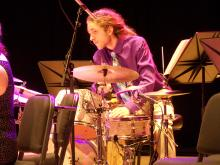 Drummer in a Jazz Combo
