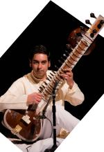 Arjun Verma playing the sitar