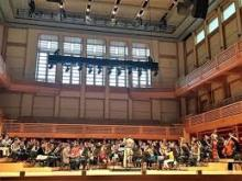 This photograph features the Sonoma County Honor Bands performing in Weill Hall at the Green Music Center