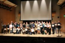 Scholarship recipients on Schroeder stage 2019