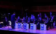 This is a photograph of the SSU Jazz Orchestra performing