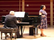 This is a photograph of the Vocal Repertoire Concert