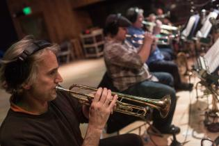 Dave Len Scott and TRUMPETSUPERGROUP recording session