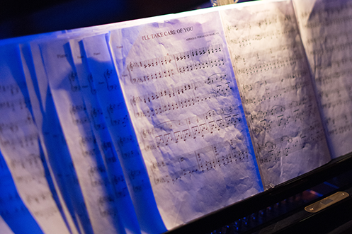 Sheet music well lit