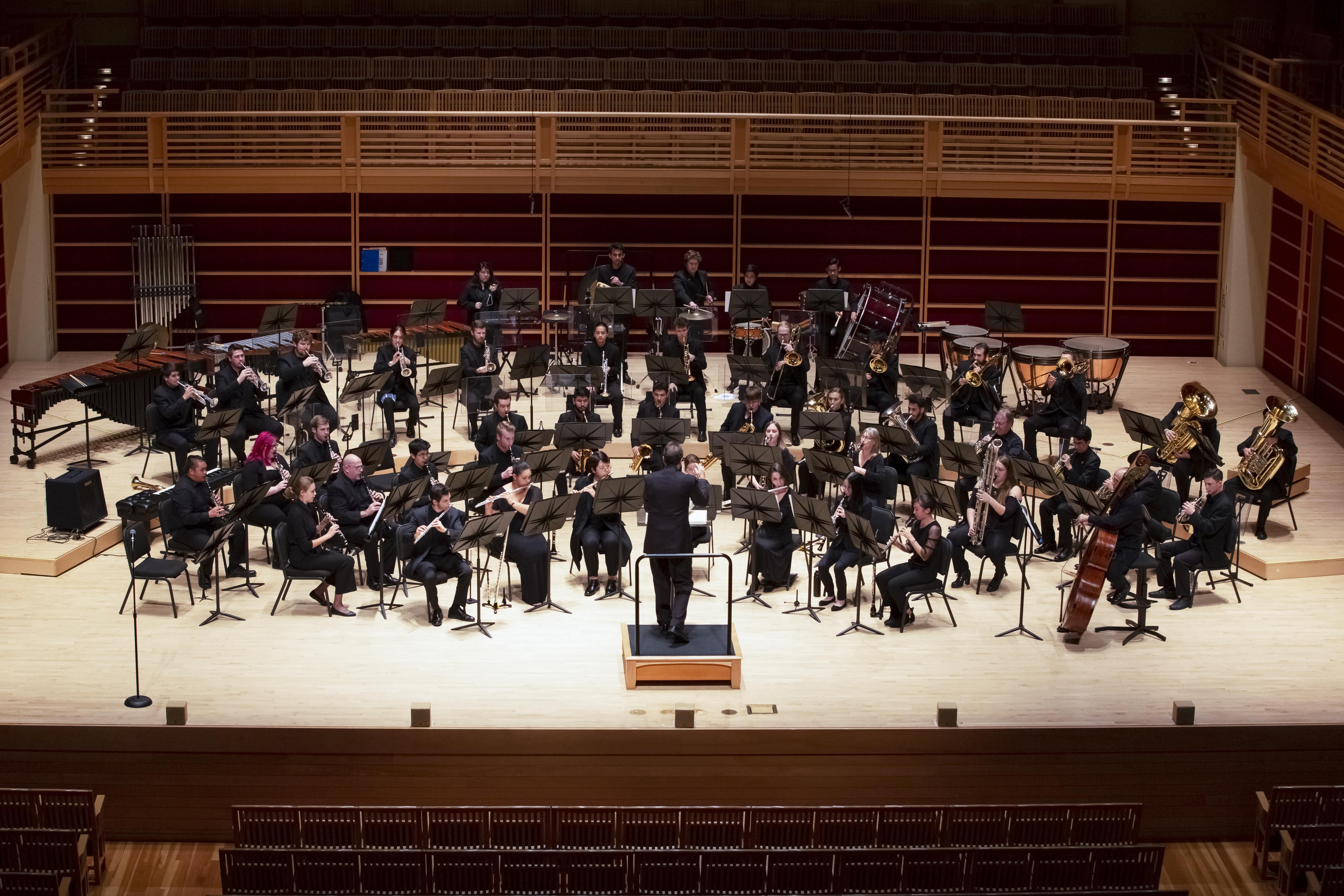 Symphonic Wind Ensemble on stage