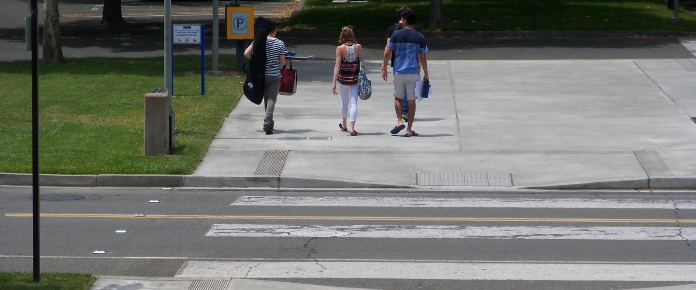 Students walking from schroeder