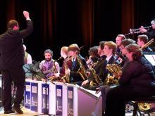 Doug conducting the jazz band