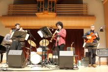 This is a photograph from the Spring 2019 Jazz Combo Concert at Sonoma State University