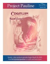 Project Pauline Poster with Cendrillon Program Cover