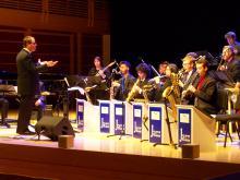 Doug Leibinger directs the SSU Jazz Orchestra