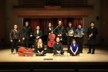 Posed Instrumental Repertoire on stage