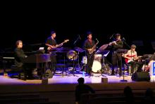 SSU Latin Band on stage at Weill Hall