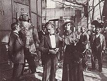 This is a classic photograph from the film The Golem